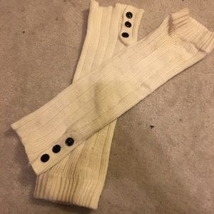Accessories - White knit leg warmers